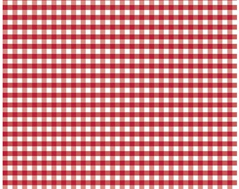 Red and white Yarn dyed Gingham Riley Blake  1/4 inch red gingham  Free Domestic Shipping for orders over 50.00 Free Domestic Ship over 50
