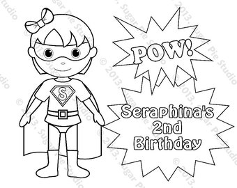 free super boy coloring pages - photo#41