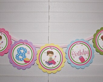 PJs & PANCAKES Birthday Word Banner / Pajama Birthday Banner / Pancake Banner / Pajama Banner / PJs and Pancake Birthday Party