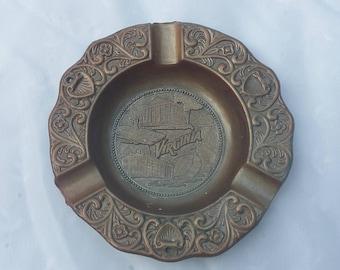 Virginia Souvenir Metal Trinket Ash Tray