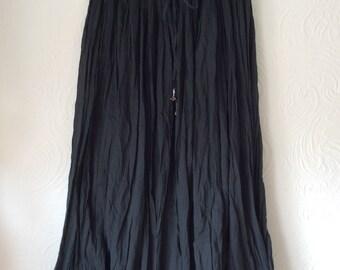 Vintage 70s/80s Black Indian gauze skirt free size