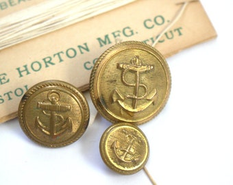 Waterbury 1850-1865 General Navy Buttons x 3