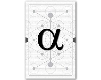 Alpha, Math Poster