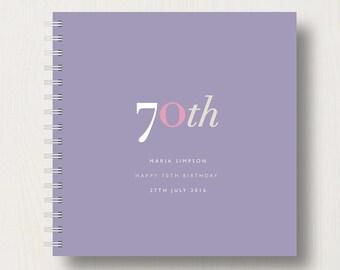 Personalised 70th Birthday Memories Book or Album