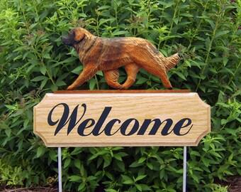 Leonberger Welcome Garden Stake