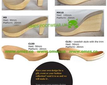 5 Pairs Wooden Soles/Heels/Clogs for Shoemakers
