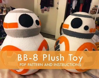 BB-8 Star Wars-inspired Plush Toy Pattern and Sewing Guide
