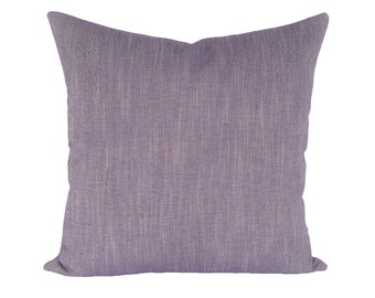 Linen Canvas Violet designer pillow covers - Made to Order - Robert Allen