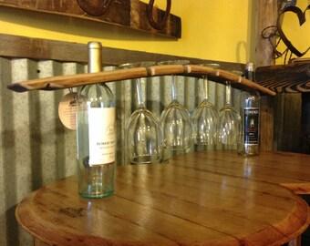 Wine barrel stave butler Large