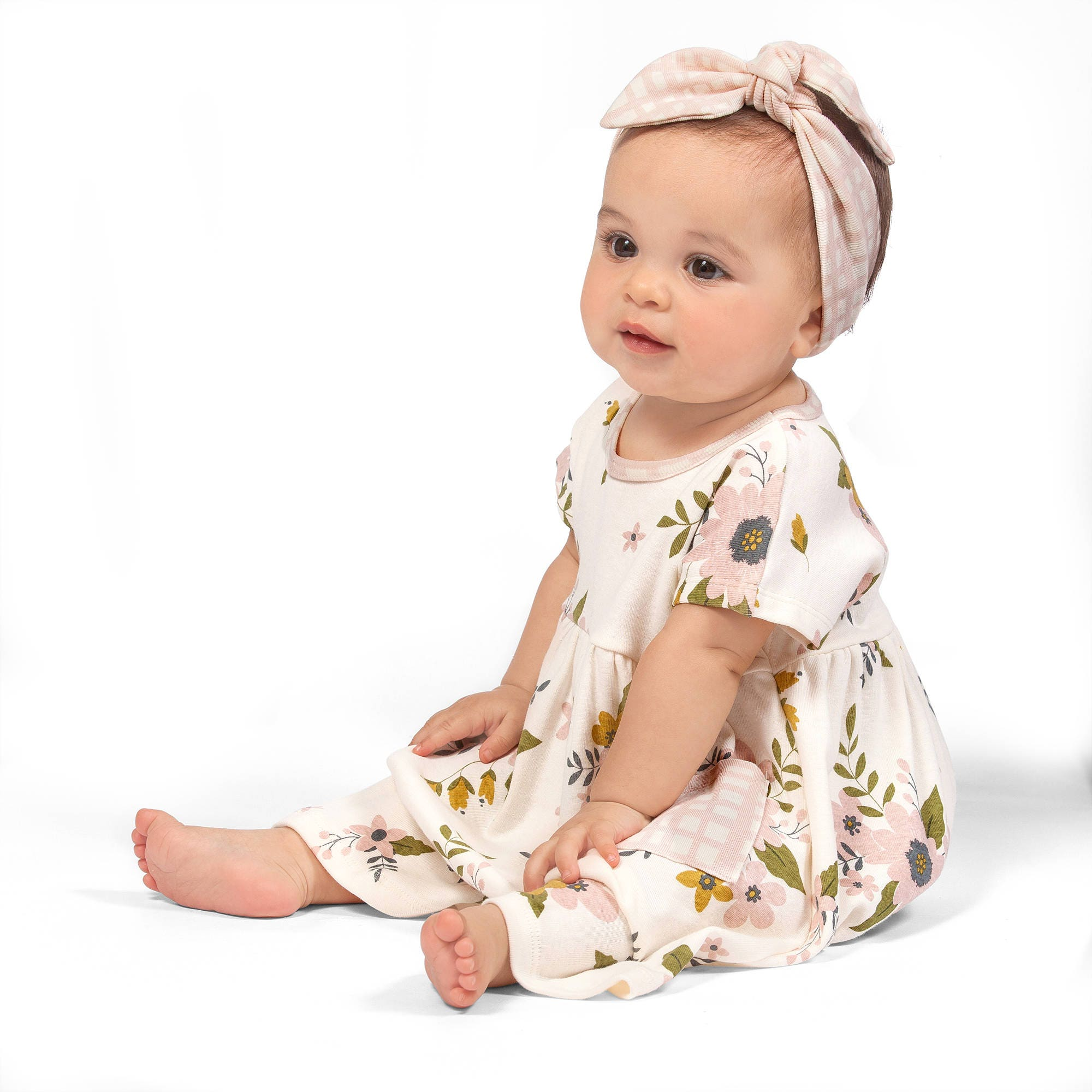 SPRING SALE Baby Girl Floral Dress Infant Girl Short Sleeve Dress