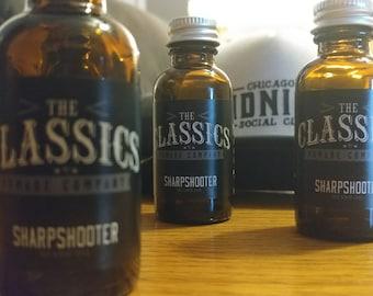 "The Classics Pomade Co.  ""Sharpshooter""  Beard Oil"
