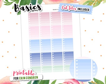 Ombre Checklist, To Do Stickers, Functional Stickers, Printable Planner Stickers, Erin Condren Stickers, Printable Stickers