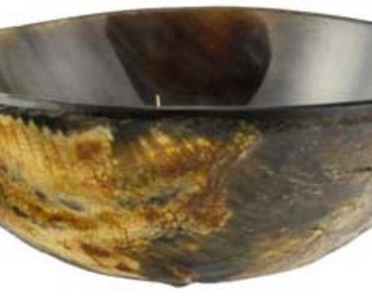 "Ritual Offering Bowl 3 3/4"" Carved Horn Wicca Pagan Ritual Ceremonial Altar Free Domestic Shipping!"