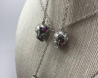 SUGAR SKULL - Swarovski crystal sugar skull pendant necklace / Sugar skull jewelry set