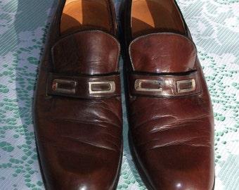 Mens Vintage Christian Dior Monsieur Shoes Size 7.5UK Width E, 8US,  41EU, all Leather.