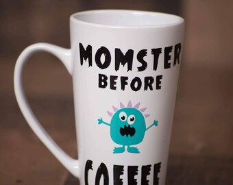 Monster Before Coffee Mug