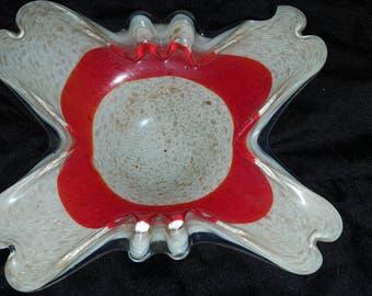 Blown Glass Ash Tray