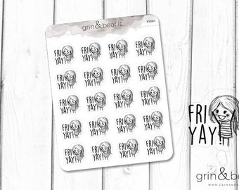 FriYAY! Sketchy Planner Stickers (SS001)