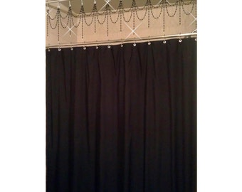 Bathtub/Shower Header Bling....Double Swag w/ Short Alternating Vertical Strands