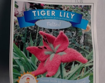 Felting Kit is Tiger Lily Felting Kit is Flower Felting Kit is Learn Felting Kit