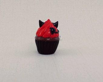 Devil Cupcake charm