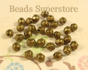 4 mm x 3.5 mm Antique Bronze Spacer Bead - Nickel Free, Lead Free and Cadmium Free - 50 pcs