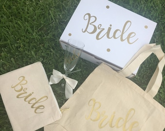 Bride Gift Box, Engagement Gift, Bride to be Gift, Bachelorette Gift, She said Yes, Wedding Gift
