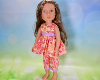 14.5 doll clothes, Made to fit Wellie Wishers Doll,  14.5 inch Doll Dress, 14 inch doll dress, 14 inch doll outfit, 03-2880