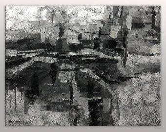 Modern Art, Rustic Kitchen Decor, Original Abstract Art, Large Abstract Art, Wall Decor, Abstract Canvas Painting, Oil Painting Abstract