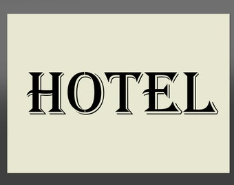Shabby Chic Hotel Stencil - Various Sizes -Made From High Quality Mylar