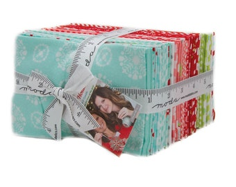 Vintage Holiday Christmas Fabric Fat Eighth Bundle by Bonnie and Camille for Moda Fabrics