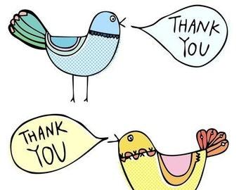 Thank you card - Birds