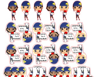 Kawaii/Chibi Pokemon Go! Planner Stickers! Pokewalk & PokeDate!