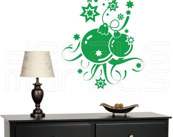 Wall decals HOLIDAY ORNAMETS Christmas balls surface graphics interior decor by Decals Murals