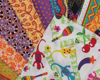 Salsa-Fiesta Quilt Kit-Fast-Easy-Gorgeous Colors-Red/Oranges/Purples/Yellows, etc