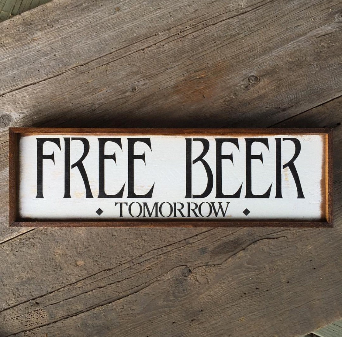 Free beer funny sayings signs home bar decor