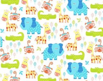 Swinging Safari  - 1 Yard Cut -  3691 1 - Animal Fabric - Studioe  Fabric - Cotton Fabric - Quilting Fabric