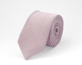 Dusty rose tie, men dusty rose tie, linen necktie, wedding tie, groomsmen tie, dusty rose wedding tie, pink tie, bow ties for men, dusty tie