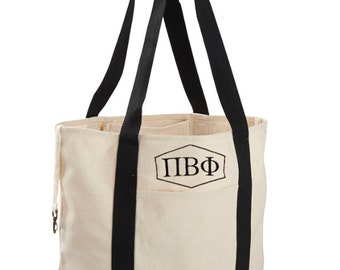 Pi Beta Phi Canvas Tote Bag