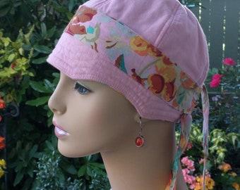 Cancer Cap Alopecia Soft Hat Chemo Hair Loss Cap Made in the USA Reversible SMALL- MEDIUM