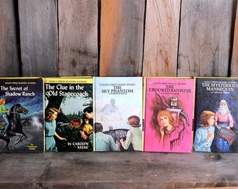 Vintage Lot Nancy Drew Mystery Books Carolyn Keene Hardback