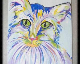 """Cat Painting """"Laura"""""""