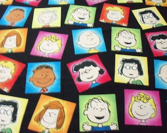 Peanuts Gang Faces Fabric Charlie Brown Lucy Etc. New Fat Quarter BTFQ