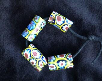 Antique Venetian Glass Millefiore Beads