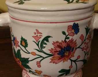 Beautiful Floral Two Piece Bowl with Lid