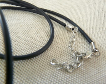 rubber and stainless steel necklace