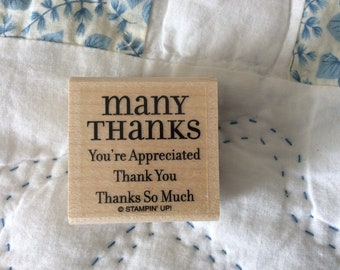 Stamp for Scrapbooking or Card Making- Many Thanks -Rubber Stamp