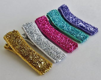 Toddler Hair Clips, Best Barrettes for Fine Hair Clips, Gold Glitter Hair Bows, Safe Hair Clips for Babies, Best Hair Barrettes Little Girl