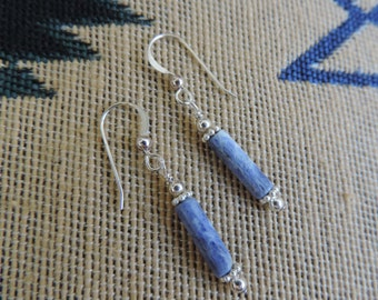 Sodalite n Sterling Silver Beads Earrings - C