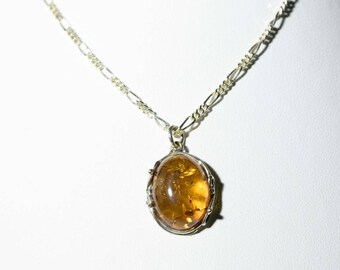 Stirling silver Amber necklace